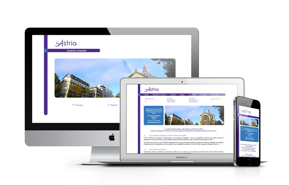 Astria Audit HTML5 Website Design