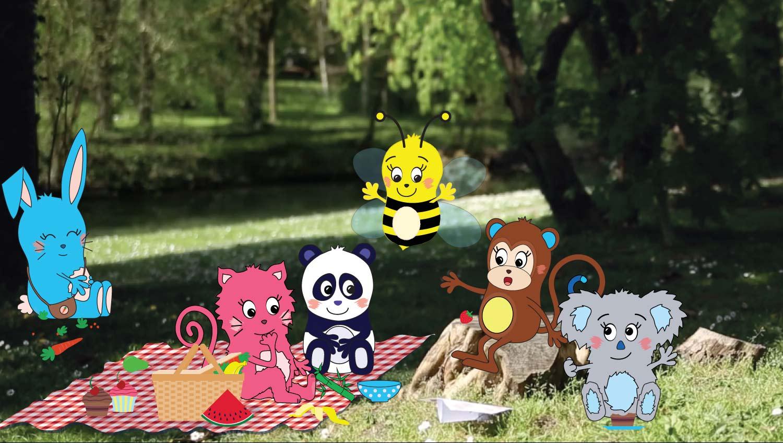 Yum & Done picnic scene