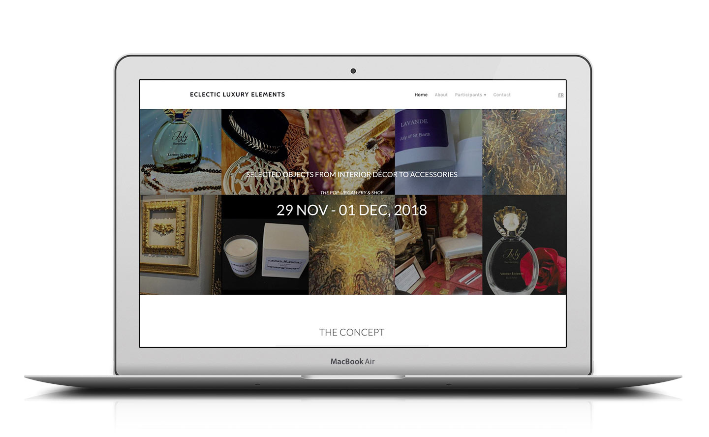 Home page design eclectic luxury elements