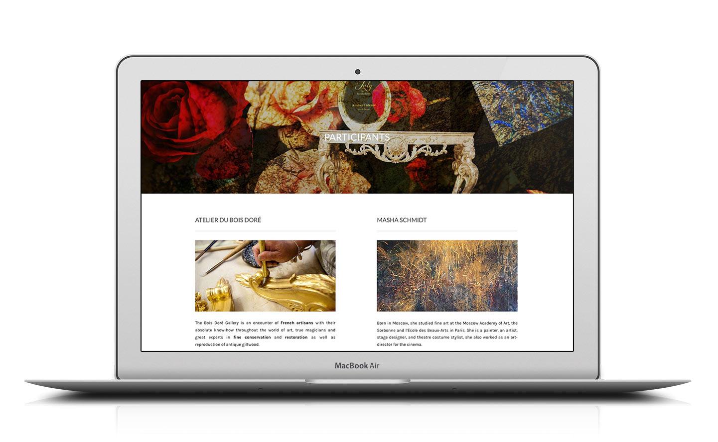 design site web événnement pop-up