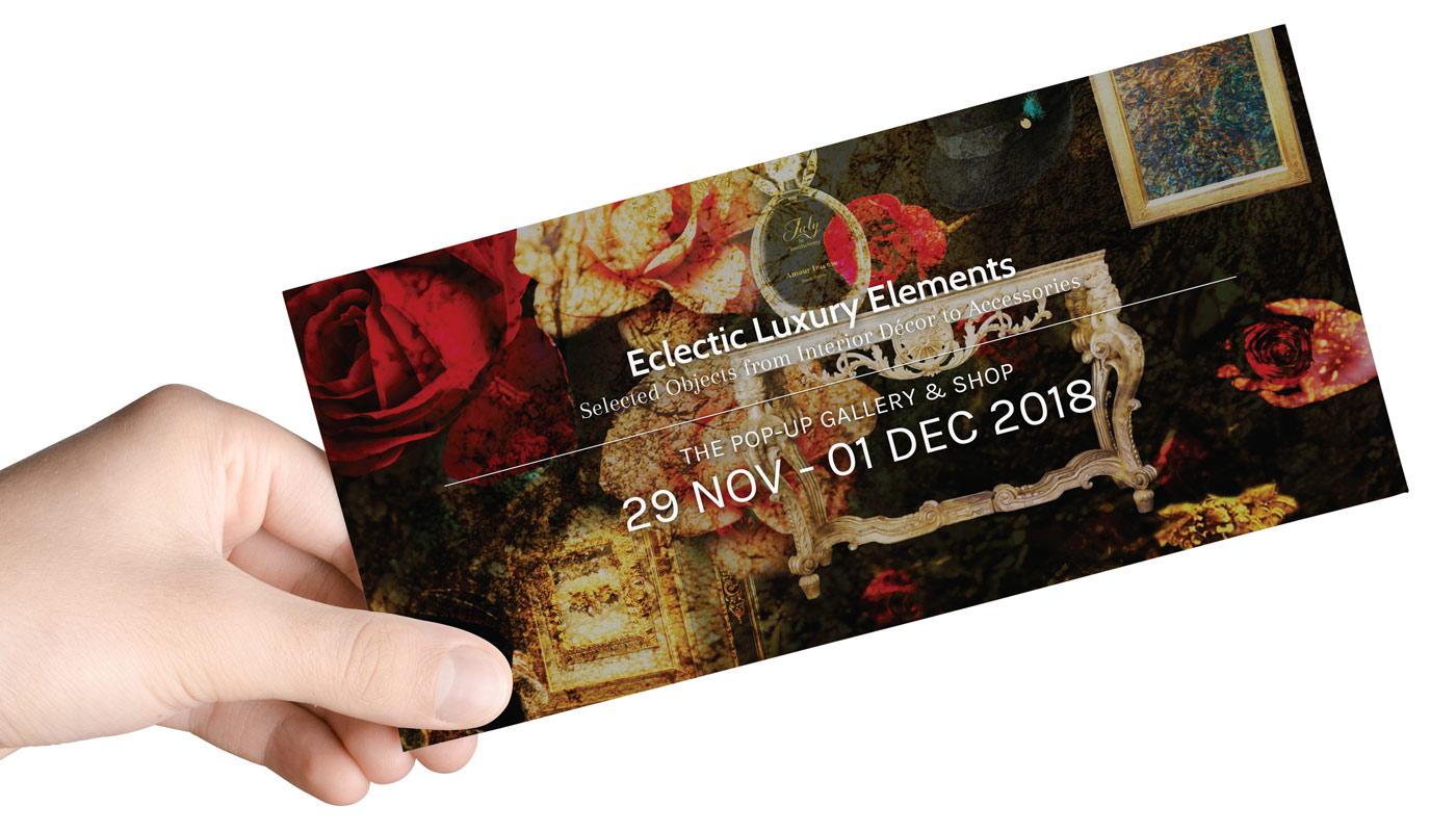 Invitation Design for a pop up event - design by Karin Haslinger